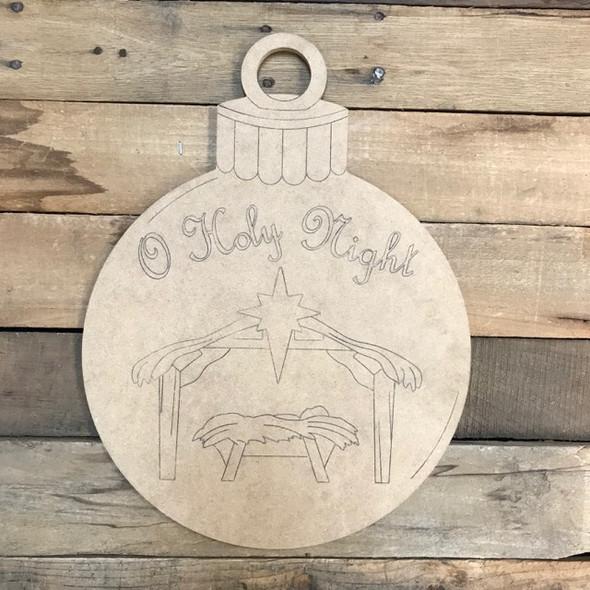 O Holy Night Ornament, Cutout, Shape, Paint by Line