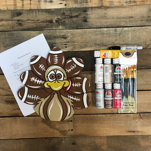 Football Turkey,  Paint Kit, Video Tutorial and Instructions