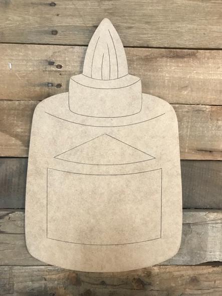 Glue Cutout, Unfinished Shape, Paint by Line