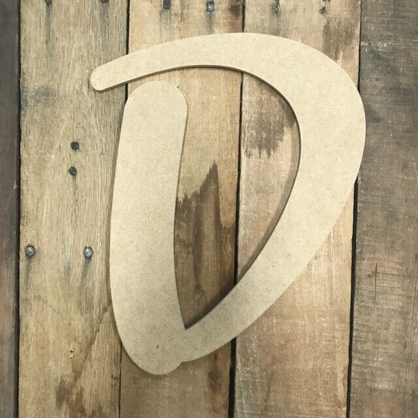 Wooden Letters Unfinished MDF-D