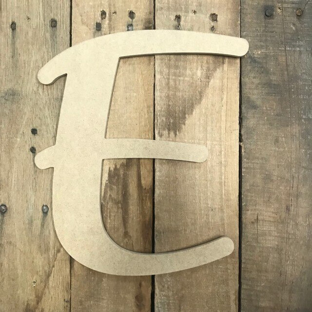 Wooden Letters Unfinished MDF-E