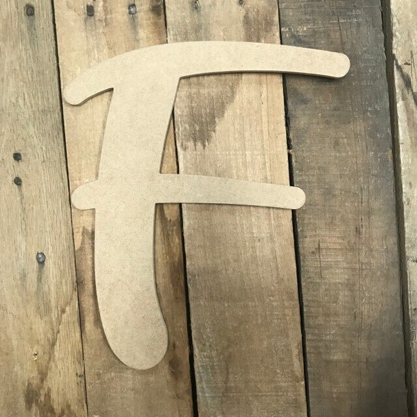 Wooden Letters Unfinished MDF-F