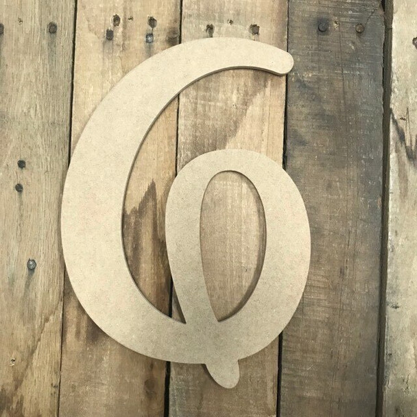 Wooden Letters Unfinished MDF-G
