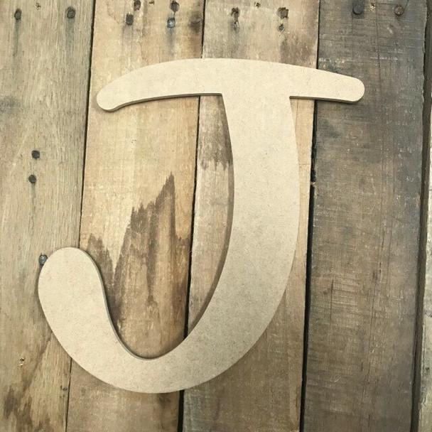 Wooden Letters Unfinished MDF-J