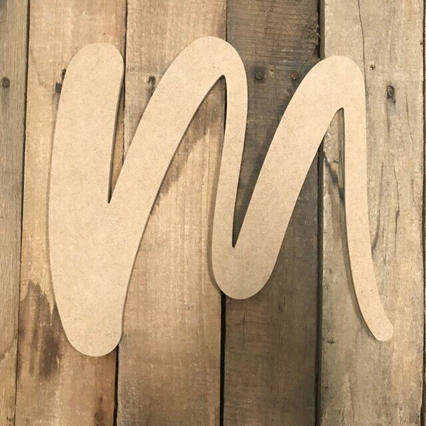 Wooden Letters Unfinished MDF-M