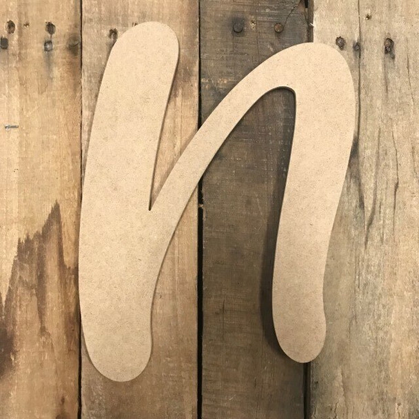 Wooden Letters Unfinished MDF-N