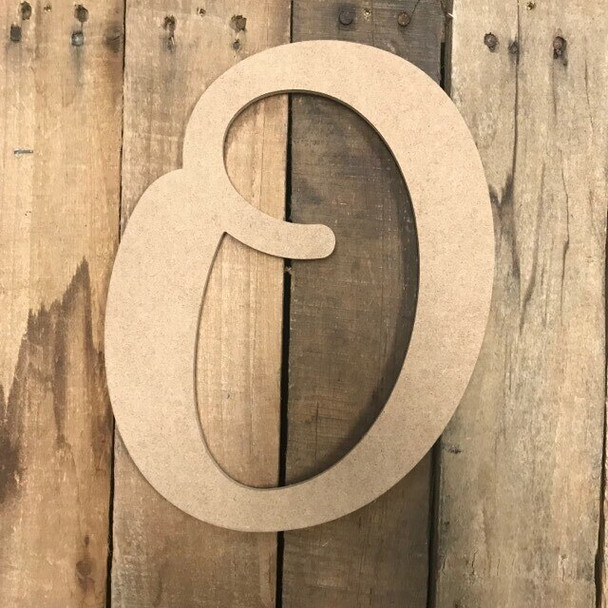 Wooden Letters Unfinished MDF-O