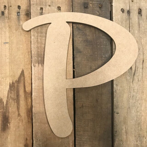 Wooden Letters Unfinished MDF-P
