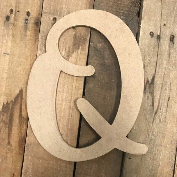 Wooden Letters Unfinished MDF-Q