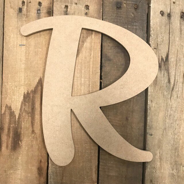 Wooden Letters Unfinished MDF-R