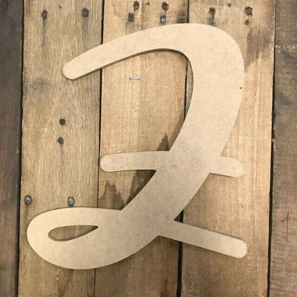 Wooden Letters Unfinished MDF-Z