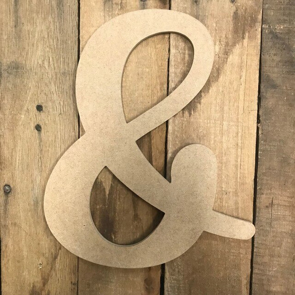 Wooden Letters Unfinished MDF-&