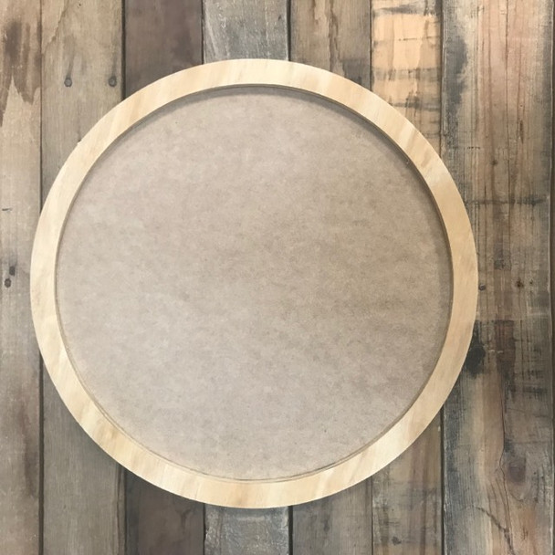 Circle with Border Wooden Sign Kit Cutout - Unfinished  DIY Craft