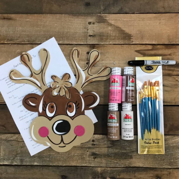 Reindeer, Paint Kit, Video Tutorial and Instructions