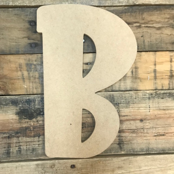Block letter B are also big mdf letters.