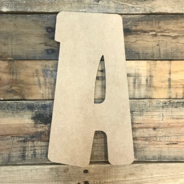 Block letter A are cheap letters for crafts.