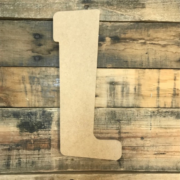 Block letter L are cheap unfinished wood alphabet letters.