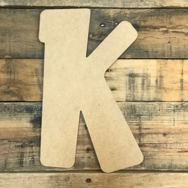 Block letter K are cheap paintable wooden letters for walls.