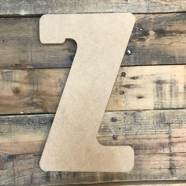 Block letter Z are cheap custom cut wood letters.