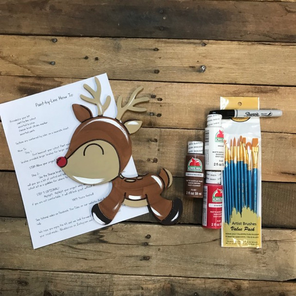 Little Reindeer, Paint Kit, Video Tutorial and Instructions