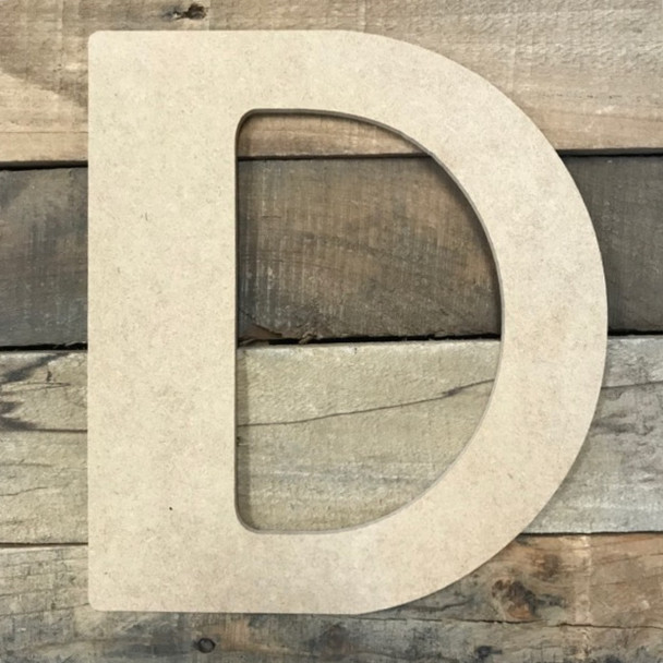 Large wooden home letters are used to spell out different words.