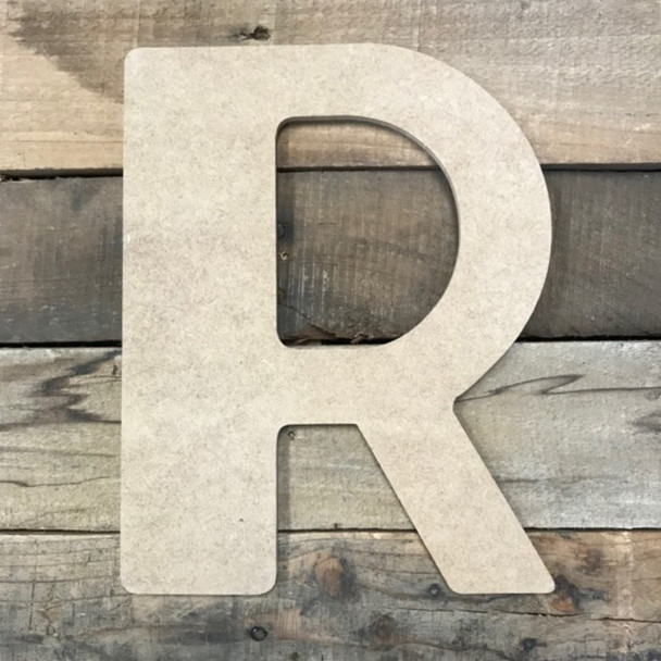 Build-A-Cross R large decorative letters are easy to paint and decorate.
