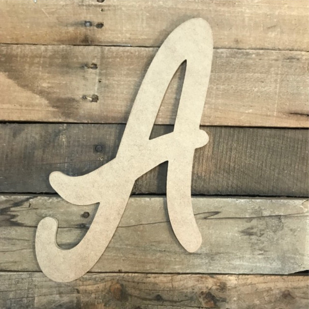 The wooden letters we provide or easy to paint  and come as large thin wooden letters.