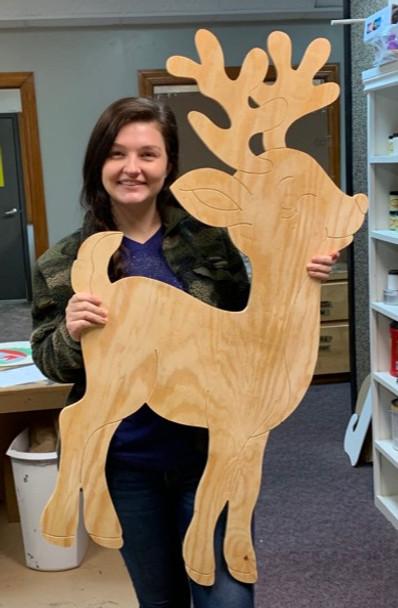 Reindeer, Large Pine Yard Display, Photo Prop