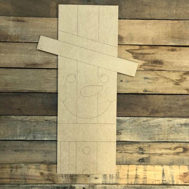 Snowman Plaque, Wood Cutout, Shape, Paint by Line