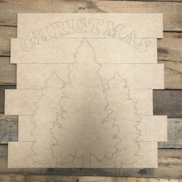 Christmas Shiplap, Wood Cutout, Shape, Paint by Line