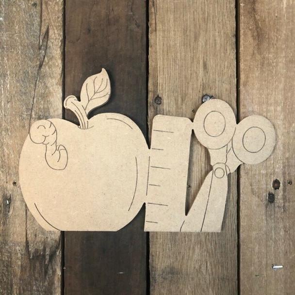 Seasonal apple Cutout from Truck Kit Paint by Line
