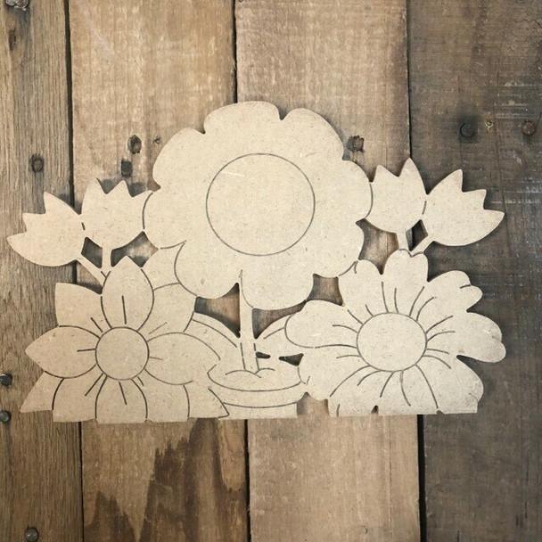 Seasonal flower Cutout from Truck Kit Paint by Line