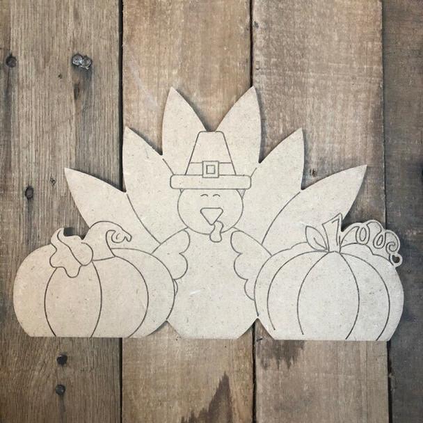 Seasonal pumpkin Cutout from Truck Kit Paint by Line