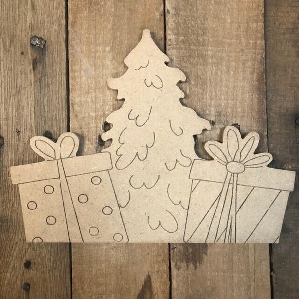 Seasonal christmas tree-gifts Cutout from Truck Kit