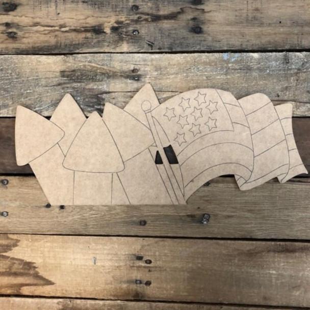 Seasonal flag Cutout crafts from Truck Kit