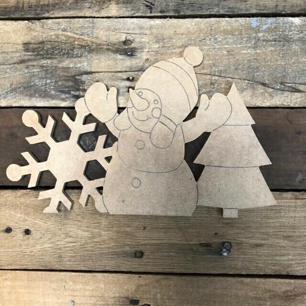 Seasonal snowman Cutout crafts from Truck Kit