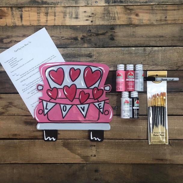Truck Full of Hearts, Paint Kit, Video Tutorial and Instructions