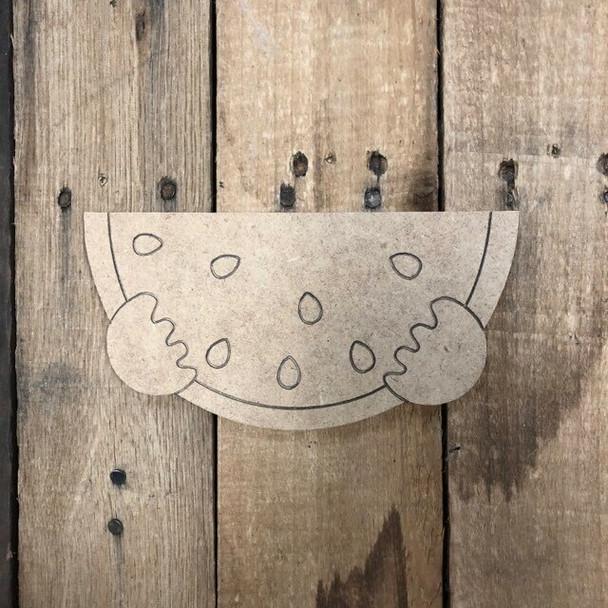 Gnome Seasonal Wood Cutout Wtermelon