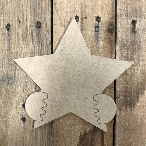 Gnome Seasonal Wood Cutout Star