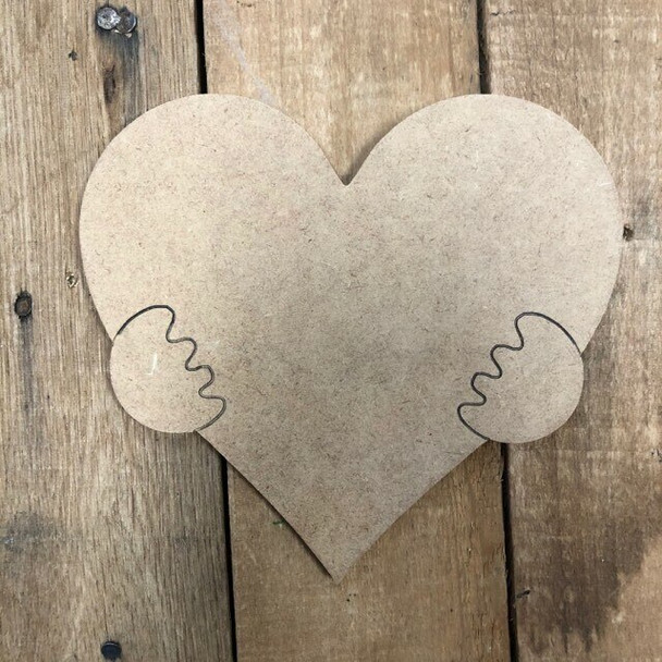 Gnome Seasonal Wood Cutout Heart