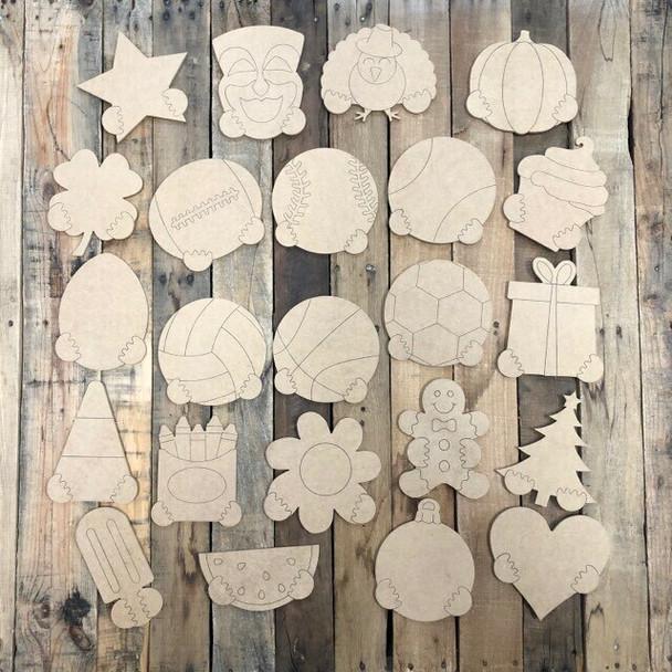 18'' Gnome Set Seasonal Shapes