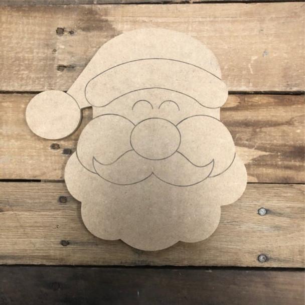 HOME Seasonal Set Wood Cutout-Santa
