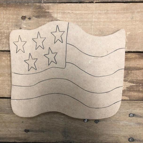 HOME Seasonal Set Wood Cutout-flag