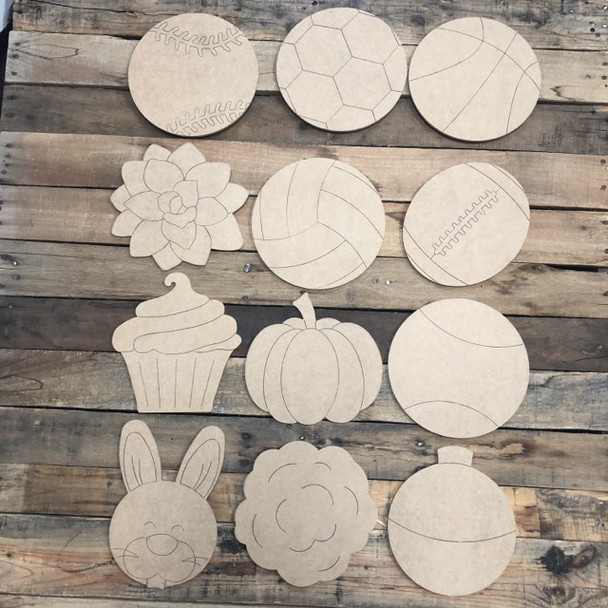"""Seasonal Shapes from 24'' HOME Kit and 22"""" Shiplap Kit, Paint by Line, Cutout"""