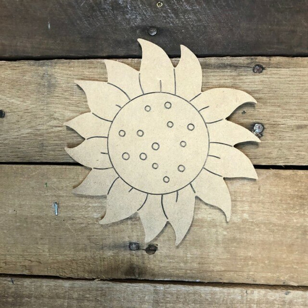 Shapes for Welcome Home Circle Plaque-sunflower