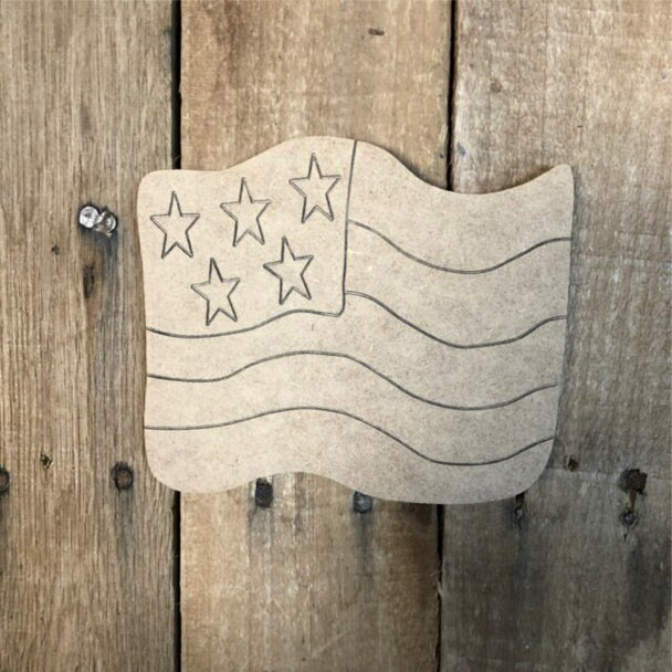 Shapes for Home Cross Kit Seasonal Set Pieces-flag