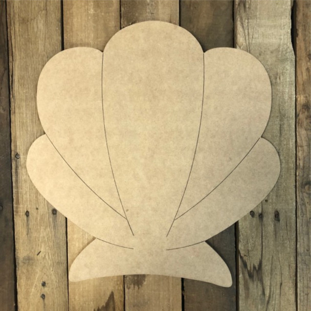 New Seashell Cutout, Unfinished Wall Decor Paint by Line