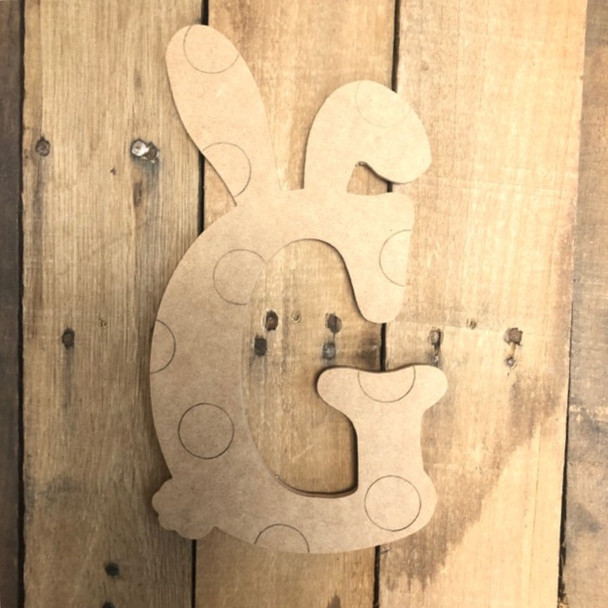 Easter Bunny with Polka Dots Beltorian Letters, Paint by Line Craft