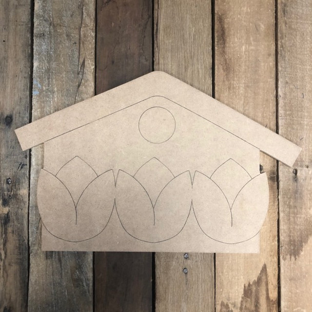 Birdhouse Cutout, Unfinished Wall Decor Paint by Line