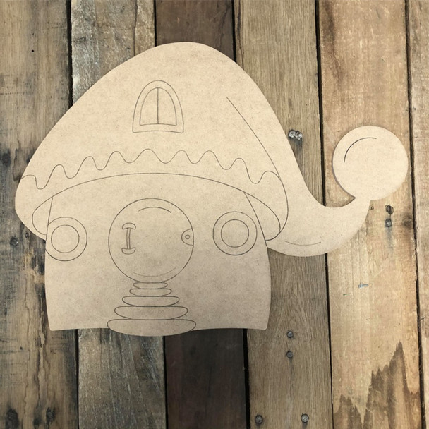 Little Gnome House Cutout Wall Art, Wood Cutout, Paint by Line
